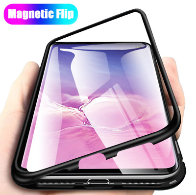 Luxury Magnetic Adsorption Shockproof Clear Case Cover For Samsung Galaxy S9 S8