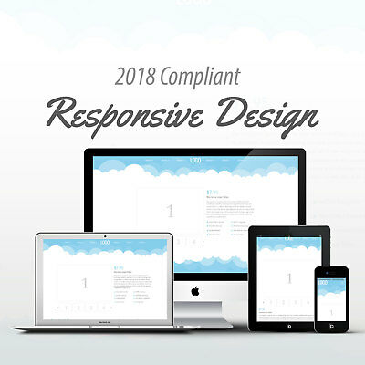 2018 Compliant Mobile Responsive Ebay Auction Listing Template Blue Clouds