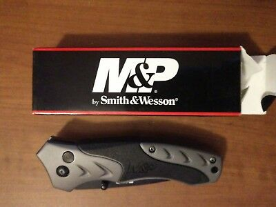 Smith & Wesson M&p Tanto Knife Gray Handle Swmp7Ts