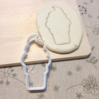 Soft Serve Ice Cream Cookie Cutter - Fondant Cake Cupcake Topper Baby Shower