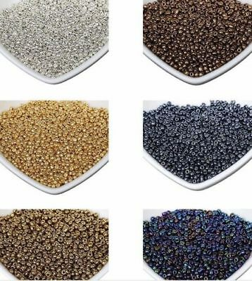 Free 1200Pcs gold silver Czech Glass Seed Spacer Beads For Jewelry Making 2mm