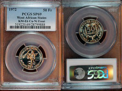 1972 West African States Pattern 50 Francs PCGS SP69
