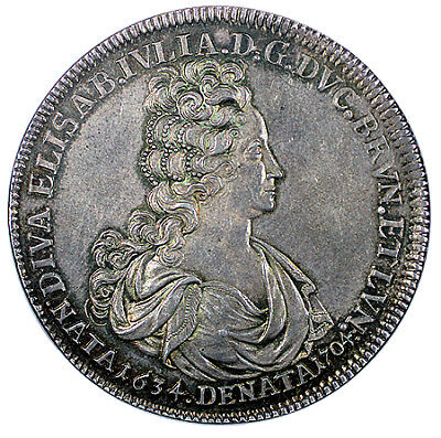 1704 Brunswick-Wolfenbuttel Death of Anton Ulrich's Wife Taler NGC MS63 Ex. Rare