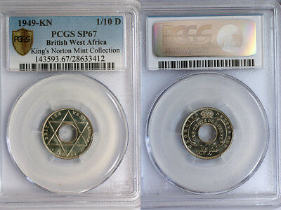 1949-KN British West Africa 1/10 Penny PCGS SP67 - Ex. Rare Kings Norton Proof