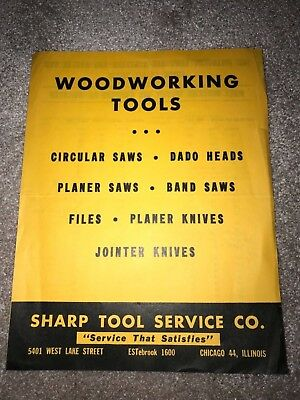 Vintage Paper Advertisement: Woodworking Tools: Sharp Tool Service, Chicago, Il