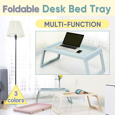 Foldable Laptop Table Tray Bed Sofa Portable Tablet Computer Stand Desk Green PP