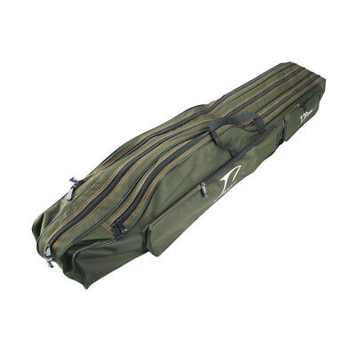 Fishing Rod Bag Pole Tackle Carry Case Holdall Reel Foldable Canvas Storage Soft