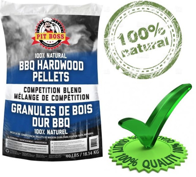 BBQ Hardwood Wood Pellets for Grill Smoker Pellet Grilling Stove Natural 40 lb