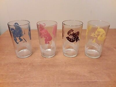 1950's Style Animal Juice Glasses