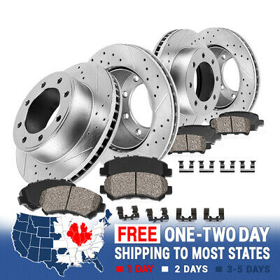 Front Brake Rotors Metallic Pads For 1999 2000-2002 Ford Excursion F250 F350
