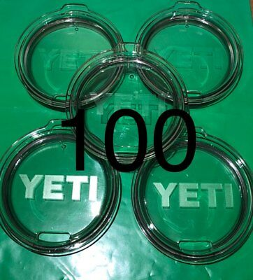 Lot of 100 ~ Yeti Original Replacement Lids for 30oz Tumbler ~ Authentic ~ NEW