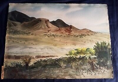 RAMON FROMAN SIGNED ORIGINAL WATERCOLORS TITLED OLD MEX 30 1/2 x 22 inches 1950s