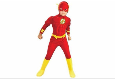 Kind Geschenk The Flash Muscle Brust Outfit Kostüm Superhelden Kinder Cosplay