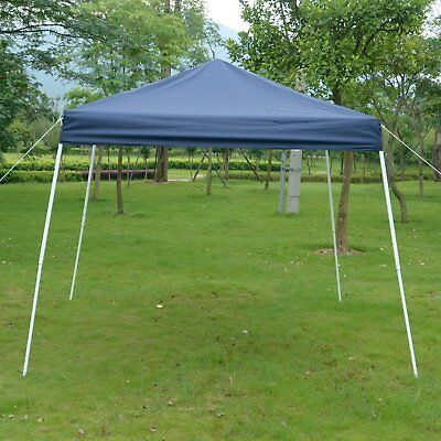 Easy Pop-up Canopy Party Tent Slant Leg Outdoor Blue