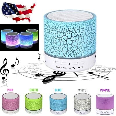 Mini Luminous Lamp Rechargeable Wireless Bluetooth Speaker Portable Super Bass