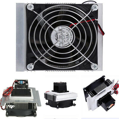 1x Car 12V 6A Thermoelectric Peltier Cooler Refrigeration Cooling Fan System Kit