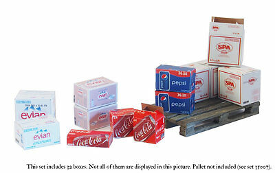 Matho Models 35013 Cardboard Boxes - water and soda drinks 1:35 scale
