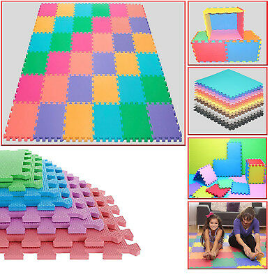 30 cm Interlocking Soft EVA Foam Mat Tiles Kids Activity Play Carpet Home Floor