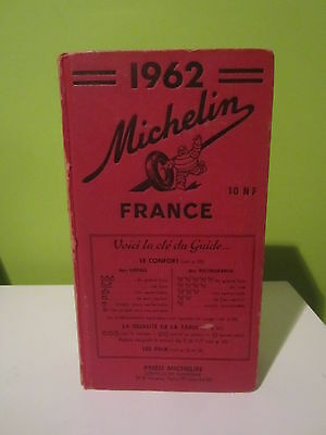 Guia  Michelin Francia 1962 Guide Michelin France 1962