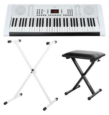 Clavier Numerique Piano Digital Synthetiseur 61 Touches 128 Sons Support Banc