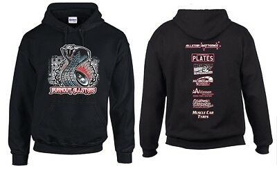 BURNOUT ALLSTARS HOODIE! SMALL (S) SIZE Burnouts Summernats Street Machine Drift