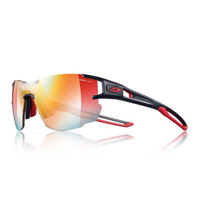 Julbo Unisex Aerolite Zebra Light Fire Sunglasses Black Red Sports Running