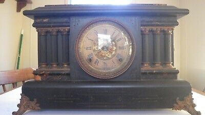 Antique SETH THOMAS ADAMANTINE 6 COLUMN Mantle Clock