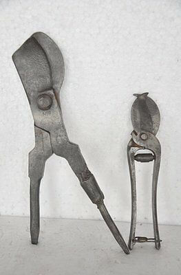 2 Pc Old Iron Handcrafted Unique Shape Cutters / Tool , England