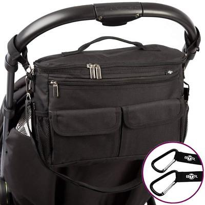 BTR Buggy Organiser Bag & Pram Plus 2 x Hooks/Clips. Makes The Perfect and...