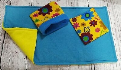 Guinea Pig fleece  liner made by ATALAS 80x44cm plus one pee pad and pouch