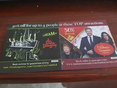 50% off for up to 4 people at London Dungeons and Madame Tussauds Voucher