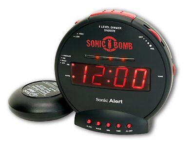 Sonic Bomb Alarm Clock Loud SBB500SS Geemarc with Bed Shaker- UK Version