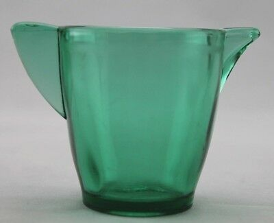 """Vintage Akro Agate Miniature Green Glass Pitcher with Stippled Band, 2-1/4"""""""