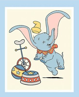 Disney Dumbo Quilt Panel * New * Time To Fly * Free Post * Cute *