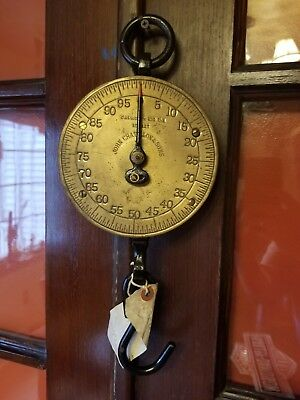 Antique John Chatillon and Sons Market Scale 100 pound