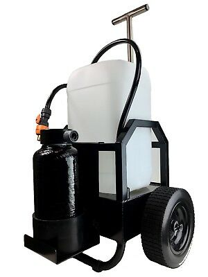 WASH2O Compact 25L Window Cleaning DI Trolley for use with Water Fed Poles