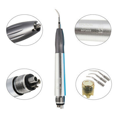 Upgrade Dental NSK Style Ultrasonic Air Scaler Handpiece 4Holes w/ Tips G1 G2 G4