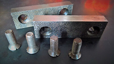 """3 1/4"""" Steel Vice Jaws with Screws"""