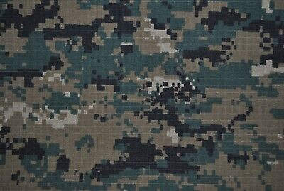 Green Digital 100% Cotton Drill Army Military Camouflage Fabric.