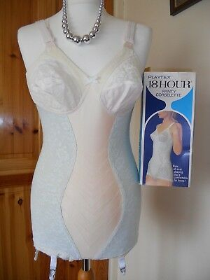 Vintage Playtex 18 Hour Nylon Girdle Corselette Panties 34B Knickers Corset Vgc