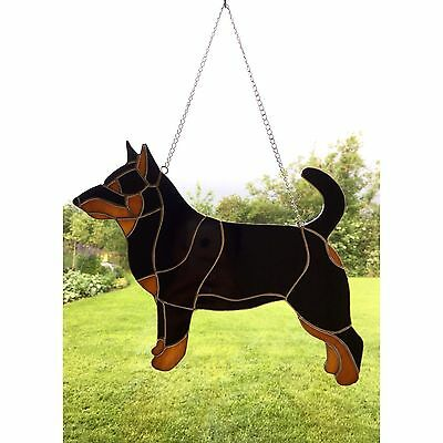 Handmade Stained Glass Lancashire Healer Dog Suncatcher Glass Decoration
