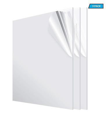 """Clear PETG plastic sheets .020/"""" x 12/"""" x 12/"""" Polyester Sheet RC Hobby"""