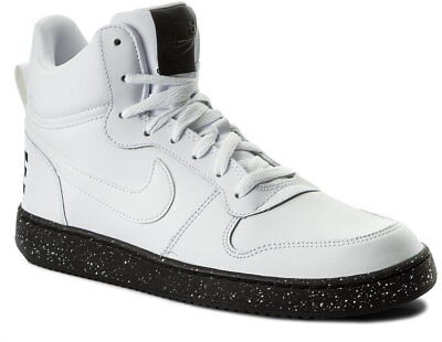 Scarpe Uomo Nike Court Borough Se Mid 916759 100 Sneakers Bianco White Nero  New c8c70c823e9