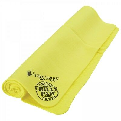 Frogg Toggs Chilly Pad Cooling Sport Towel 33x13 Yellow Tennis,Golf or Running