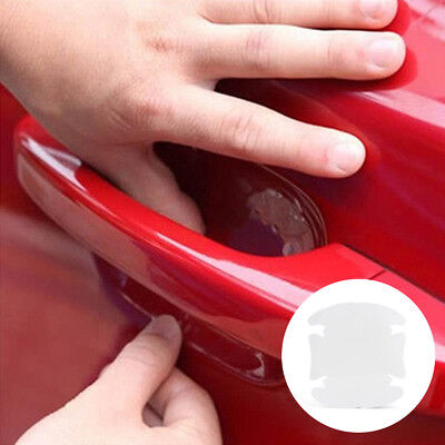 2Pcs Car Door Handle Invisible Clear Protector Films Sticker Anti-Scratch Cover