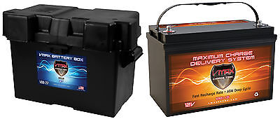 VMAX XTR31-135 + GRP 31 for SWEETWATER CHALLENGER Pontoon marine dp cyc battery