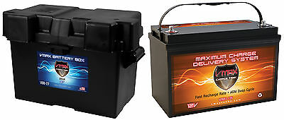 Vmax Xtr31-135 + Group 31 Box  Kenworth 1700A Agm Deep Cycle Battery