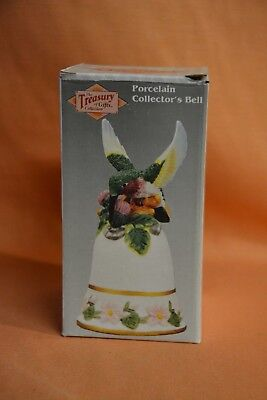 The treasure of gifts collection porcelain collectors bell humming bird