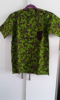 Men's Shirt African Print Ankara Brand New - Large size