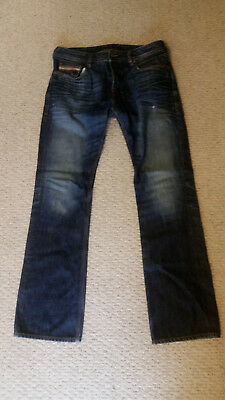 e70ad404 DIESEL ZATINY JEANS 32 (34) x 30 0RUS5 boot-cut euc made in USA ...